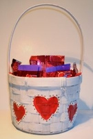 Chocolate Valentine Candy Gift Basket