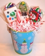 Christmas Lollipop Bouquet Snowmans Delight