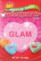 Dazzled Tarts Sweethearts Conversation Hearts