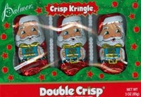 Double Crisp Chocolate  Santa 3 Pack