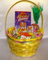 Easter Basket -  Reese's Peanut Butter Eggs and  Bunnies