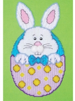 Easter Bunny In Egg Plastic Canvas Kit