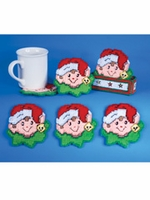 Elf Plastic Canvas Christmas Coaster Kit