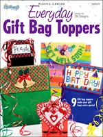 Everyday Gift Bag Toppers  Plastic Canvas Pattern