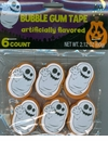 Halloween Bubble Gum Tape - Ghosts
