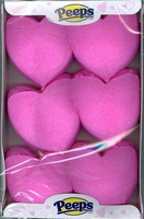 Heart Shaped Peeps Pink