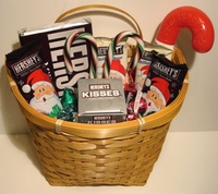 Hershey Christmas Candy Gift Basket