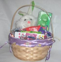 Kids Easter Basket With Plush Animal