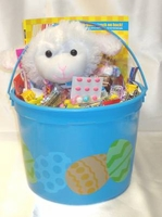 Kids Easter Basket With Stuff Toy