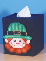 Leprechaun Tissue Box Plastic Canvas Kit