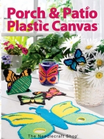 Porch and Patio Plastic Canvas Hard Cover Book