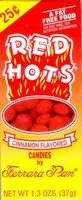 Red Hots - Ferrara Pan Candy -1 Box