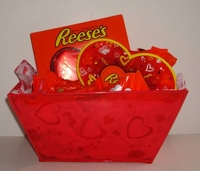 Reese's Valentine Candy Gift Basket