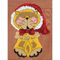 Santa Kitty Plastic Canvas Kit