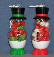 Snowman With Candy Snowballs Christmas Ornaments - Great Stocking Stuffer
