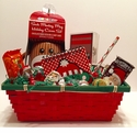 Sock Monkey Christmas Basket