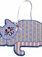 Tabby Cat Plastic Canvas Wall Hanging Kit