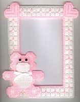 Teddy Bear Picture Frame  - Pink