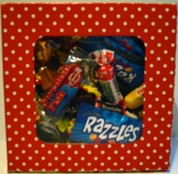 Valentine Candy Box Filled With Old Time Retro Candy