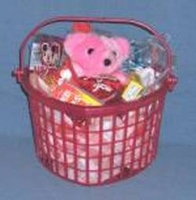 Valentine's  Heart Shaped Gift Basket