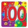 100th Coasters Decorations