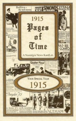 1915 Trivia Booklet - 100th Birthday Book