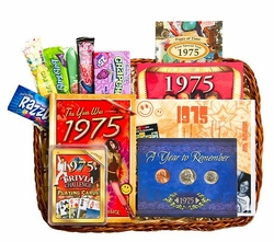 40th Birthday Gift Basket for 1975 or 1976