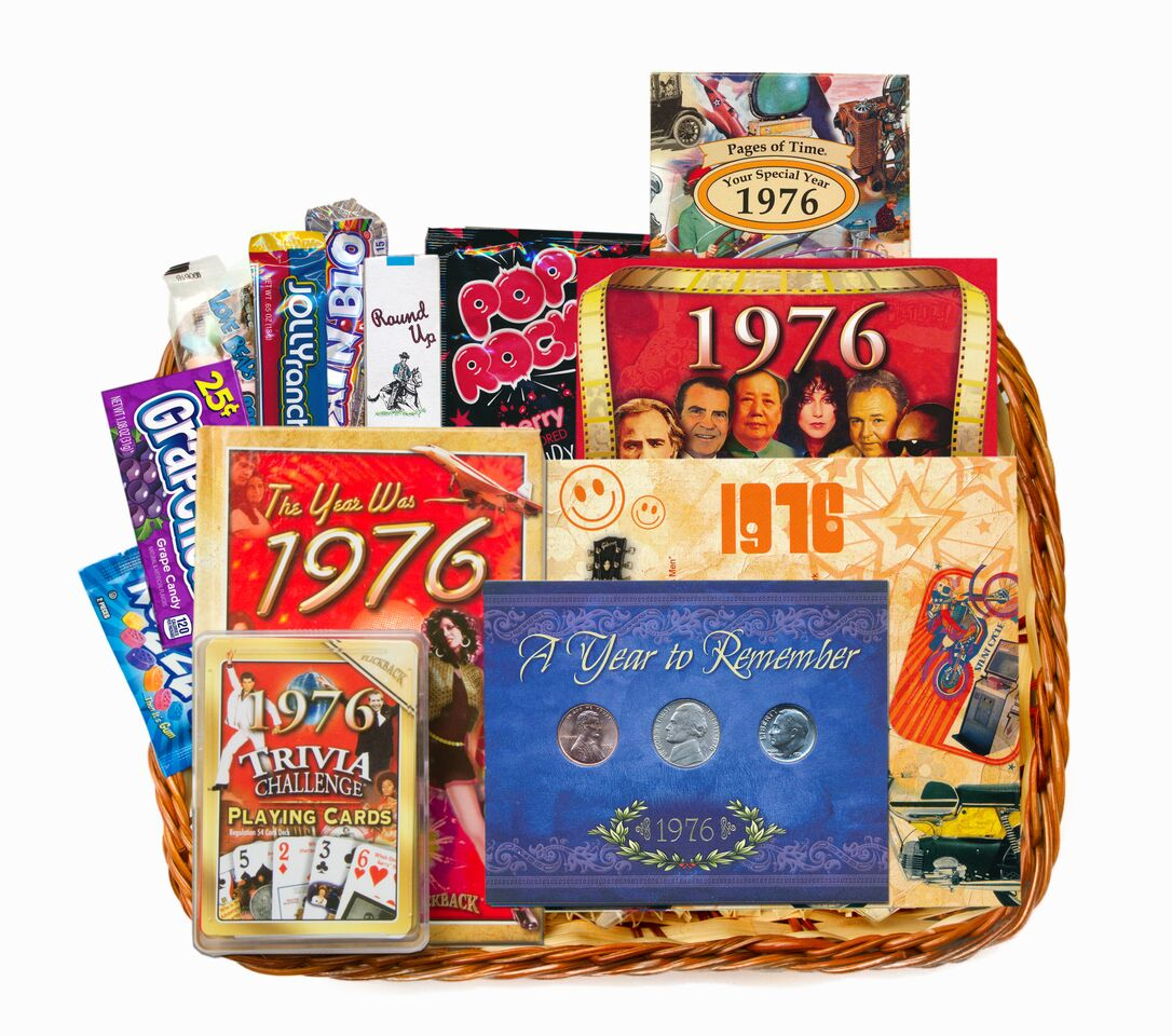 50th Birthday Gift Basket For Men: 40th Birthday Gift Basket For 1977