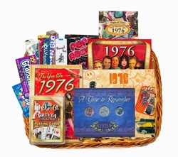 40th Birthday Gift Basket for 1976