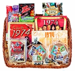 40th Birthday Gift Basket with Stamps for 1974