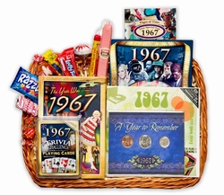 50th Birthday Gift Basket for 1967