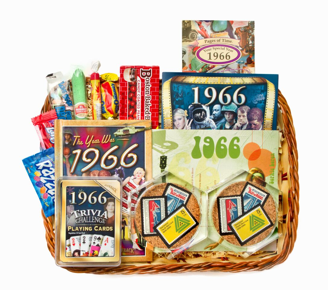 50th Gift Basket With Stamps For 1966