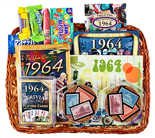 50th Gift Basket with Stamps for 1964 or 1965