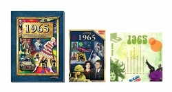 50th Birthday Gift Package: Book, Music & DVD for 1965