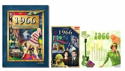 50th Birthday Gift Package: Book, Music & DVD for 1966