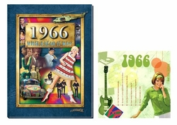 50th Birthday Presents: Book & Music CD Set for 1966