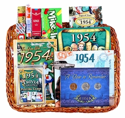 60th Birthday Gift Basket for 1954 (Next Year)