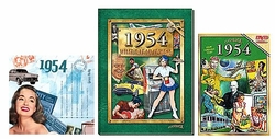 60th Birthday Gift Package: Book, Music & DVD for 1954 or 1955