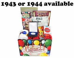 70th Birthday Gift Basket for 1943 or 1944