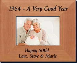 Personalized 50th Birthday Frame