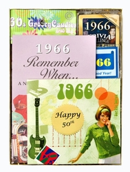 Personalized 50th Birthday Time Capsule for 1966