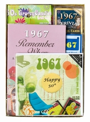 Personalized 50th Birthday Time Capsule for 1967