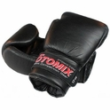 Black Leather Boxing Gloves