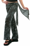 Designer Sash Burnout Wrap Pants