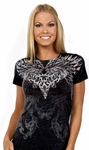 Feather Heart Burnout Tee