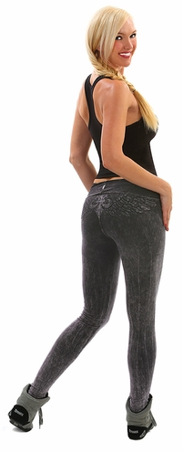 Wing Mineral Washed Yoga Leggings