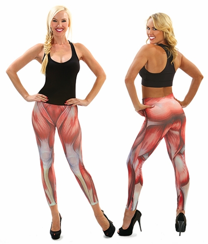 Muscle Print Legging Tights