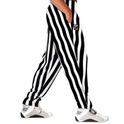 White Stripe Bodybuilding Baggy Pant
