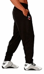 Bodybuilding Muscle Classic Black Baggy Workout Pants