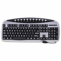 104-Key USB Big-Size Print Multimedia Keyboard